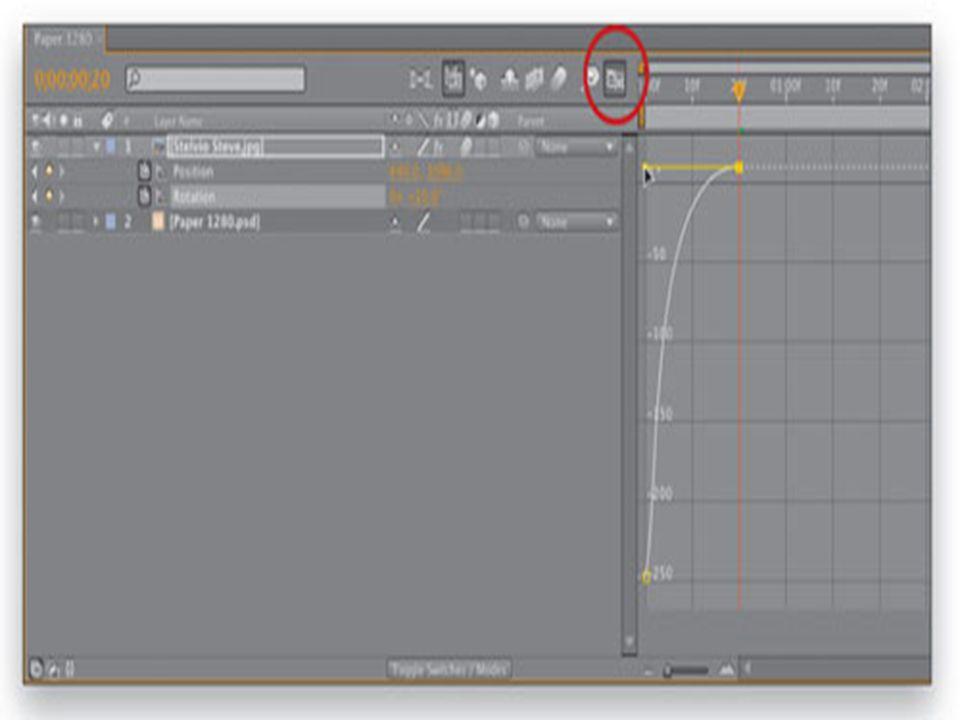 Asama 6 • 00:20 f kareleri arasında bir seçim çerçevesi sürükleyin ve ardından Animasyon> Keyframe Assistant> Kolay Azalan seçmek, onları seçin.