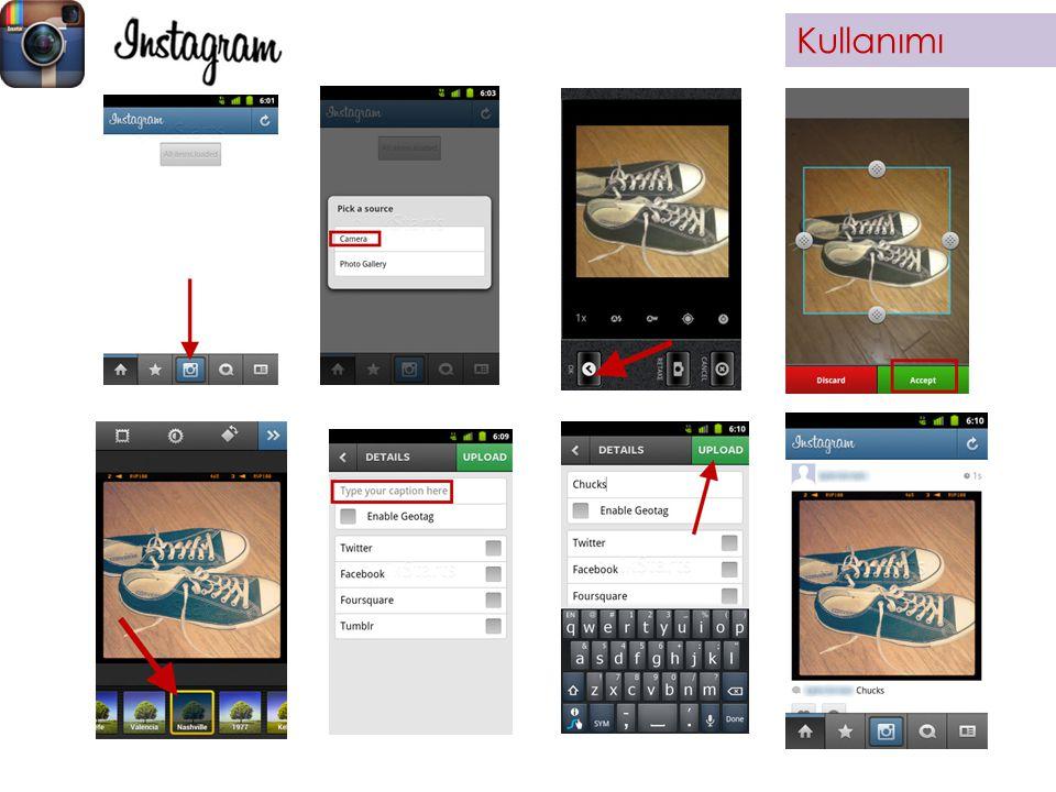 Python https://github.com/Instagram/python- instagram Ruby https://github.com/Instagram/instagra m-ruby-gem Görüntü İşleme Dilleri Temel olarak yaptık