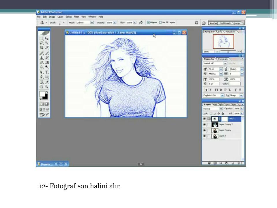 12- Fotoğraf son halini alır.