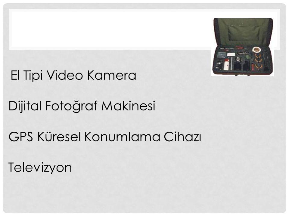 El Tipi Video Kamera Dijital Fotoğraf Makinesi GPS Küresel Konumlama Cihazı Televizyon