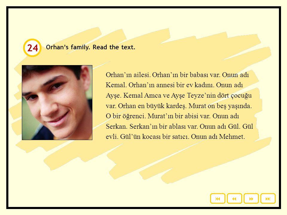 Ali / kardeş Can / baba Mustafa / dede Berna / anne Selda / koca Koray / karı Eren / arkadaş Özgür / abla Ali'nin kardeşi Can'ın babası Mustafa'nın de