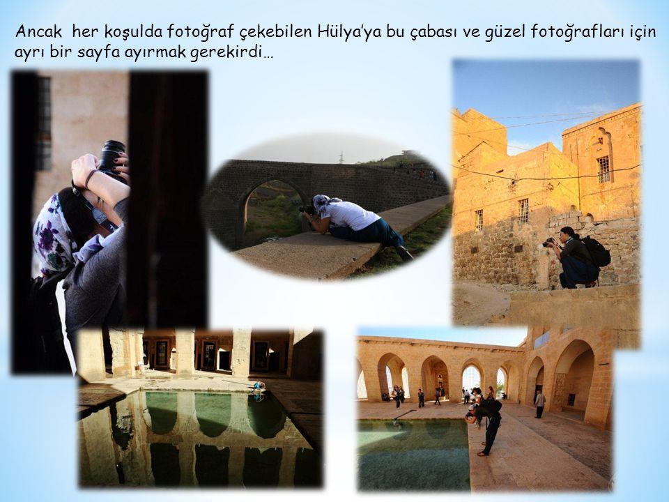 Ancak her koşulda fotoğraf çekebilen Hülya'ya bu çabası ve güzel fotoğrafları için ayrı bir sayfa ayırmak gerekirdi…