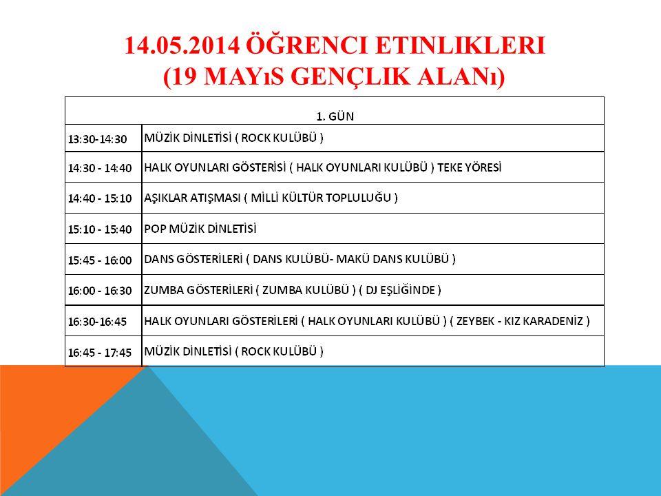 14.05.2014 ÖĞRENCI ETINLIKLERI (19 MAYıS GENÇLIK ALANı)