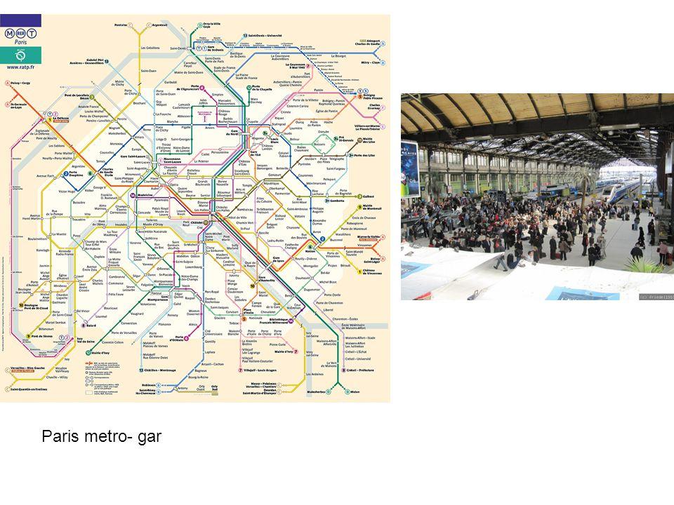 Paris metro- gar