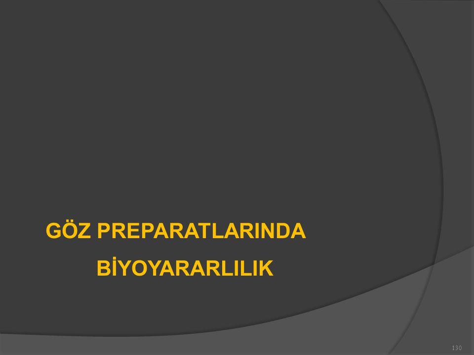 GÖZ PREPARATLARINDA BİYOYARARLILIK 130