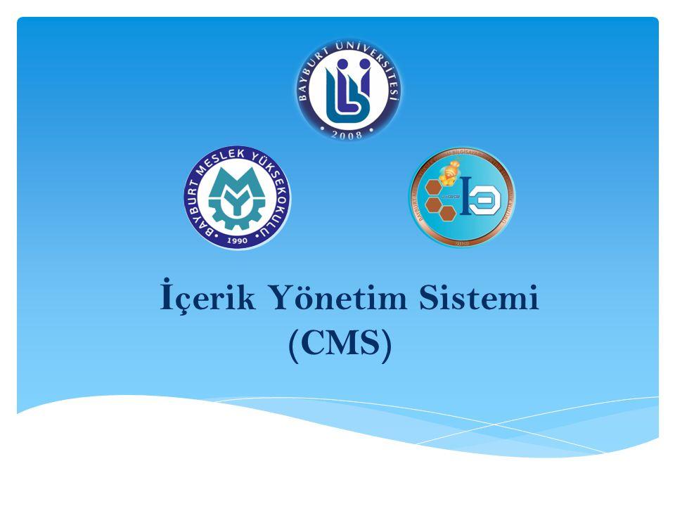 İ çerik Yönetim Sistemi (CMS) Bayburt Bilgisayar Elektrik Elektronik Kulübü