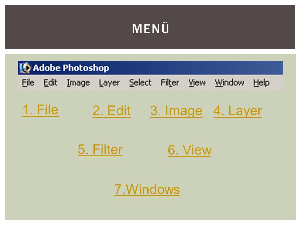 """2. DURUM VAR OLAN BİR İMAJ ÜZERİNDE ÇALIŞMAK - Adım 1: """"File"""" Tıkla  """"Open""""ı seç -Adım 2: Çalışmak istediğin dosyayı seç  """"Open""""ı tıkla"""