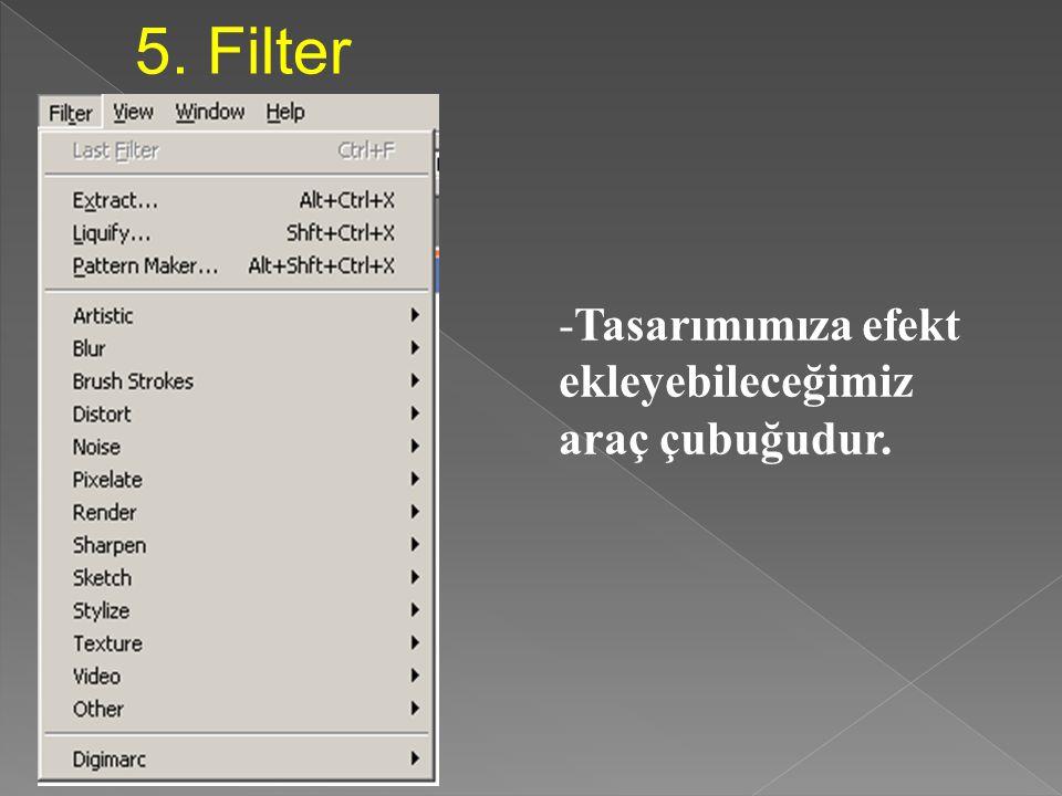 4. Layer: Katman a. New, Delete - New: Yeni bir katman ekleme - Delete: Eklenen katmanlardan seçileni silme b. Arrange - Katmanın özelliklerini değişt