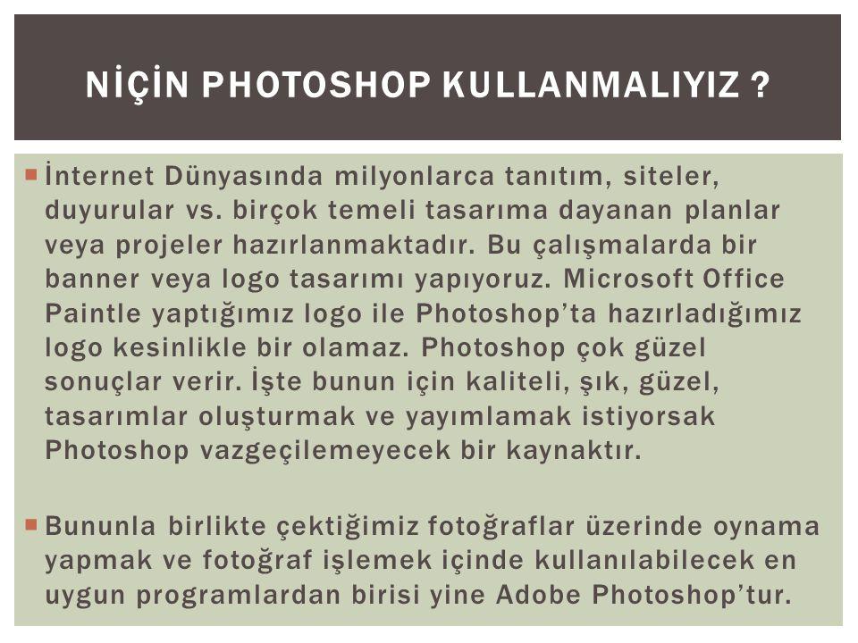  Photoshop grafiklerinizi ve fotoğraflarınızı