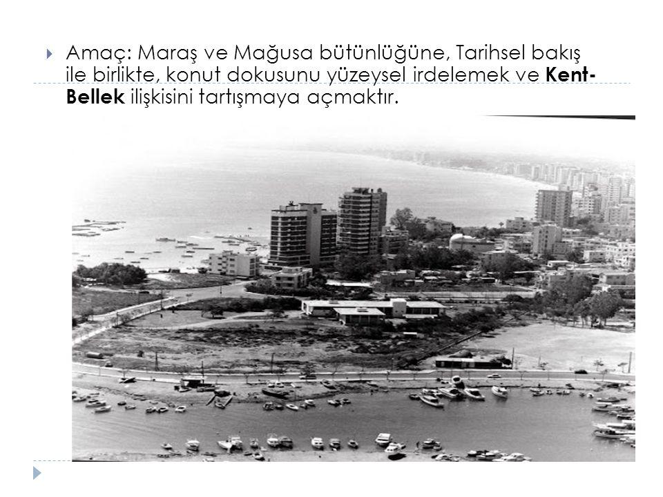 Kıbrıs'ta Maraş'ın Konumu Maraş, Kıbrıs adasının, do ğ u kısmında yer alan Ma ğ usa kentinin, büyük bir bölümünü oluşturmaktadır.