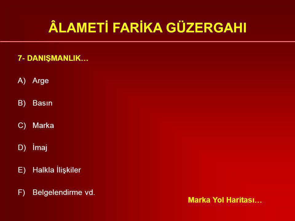 ÂLAMETİ FARİKA GÜZERGAHI 6- PR & HALKLA İLİŞKİLER A)Basın ile ilişkiler.
