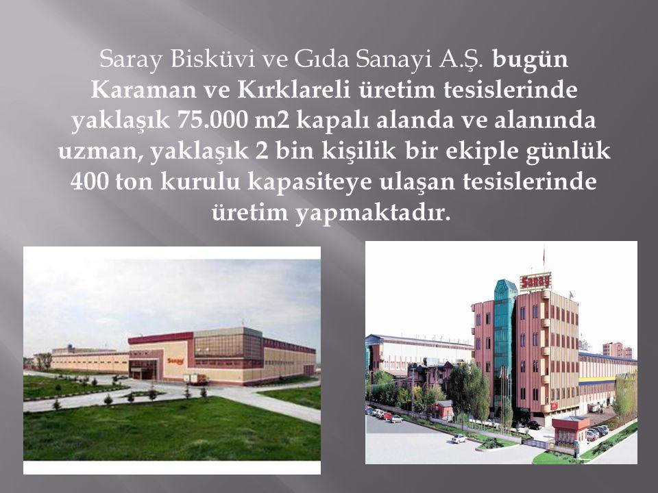 HERYERDE SARAY MARKASI … Türkiye'de sektöründeki önde gelen kuruluşlardan biri olan SARAY BİSKÜVİ, tesislerinin büyüklüğü ve teknolojisi ile dünya bisküvi ve çikolata üreticileri arasında yer almaktadır.