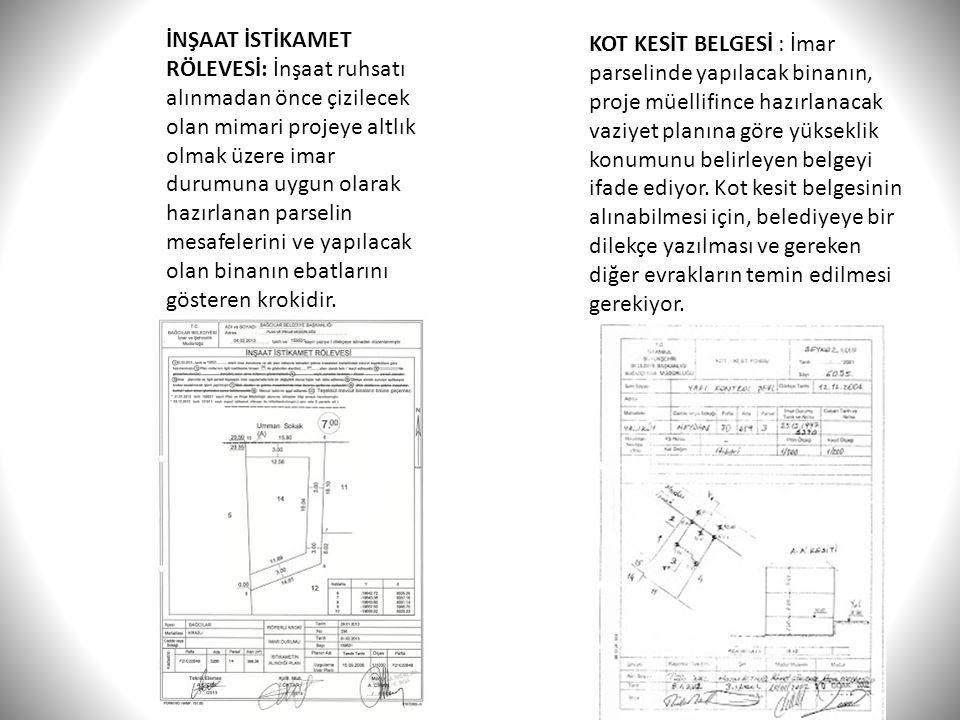 İNŞAAT İSTİKAMET RÖLEVESİ: İnşaat ruhsatı alınmadan önce çizilecek olan mimari projeye altlık olmak üzere imar durumuna uygun olarak hazırlanan parsel
