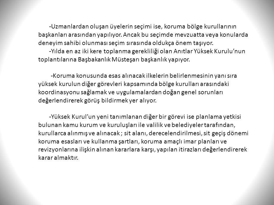 Bölge Kurulları ve Üyeleri -Mevcut durumda Türkiye çapında 20 olan bölgesel kurullarda yeni yasa ile önceden 5 olan üye sayısı 7'ye çıkarılmıştır.