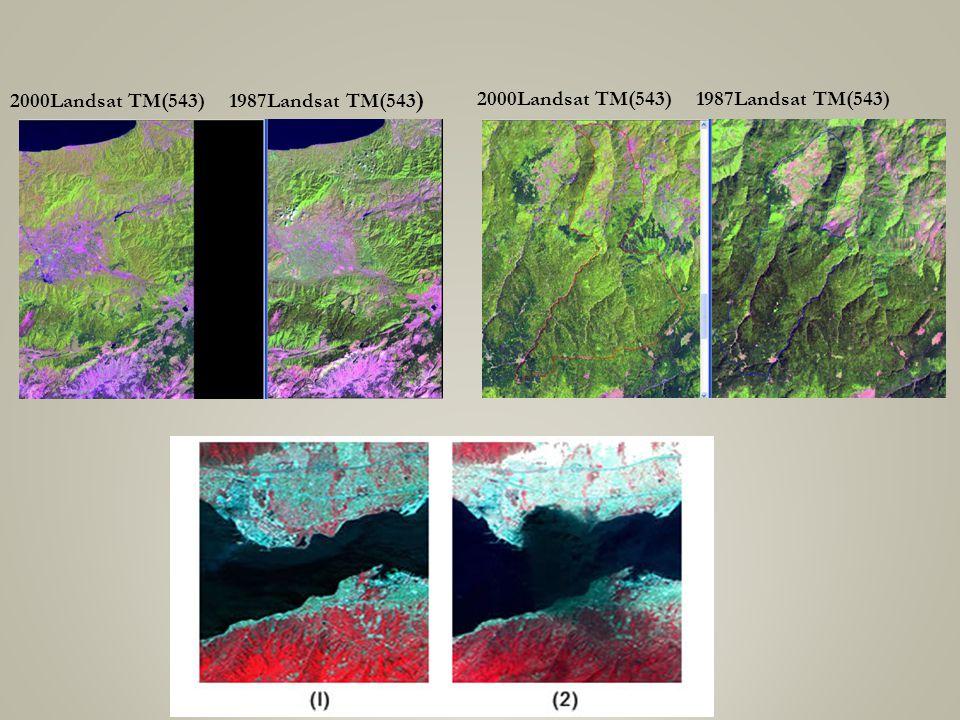 2000Landsat TM(543) 1987Landsat TM(543 )