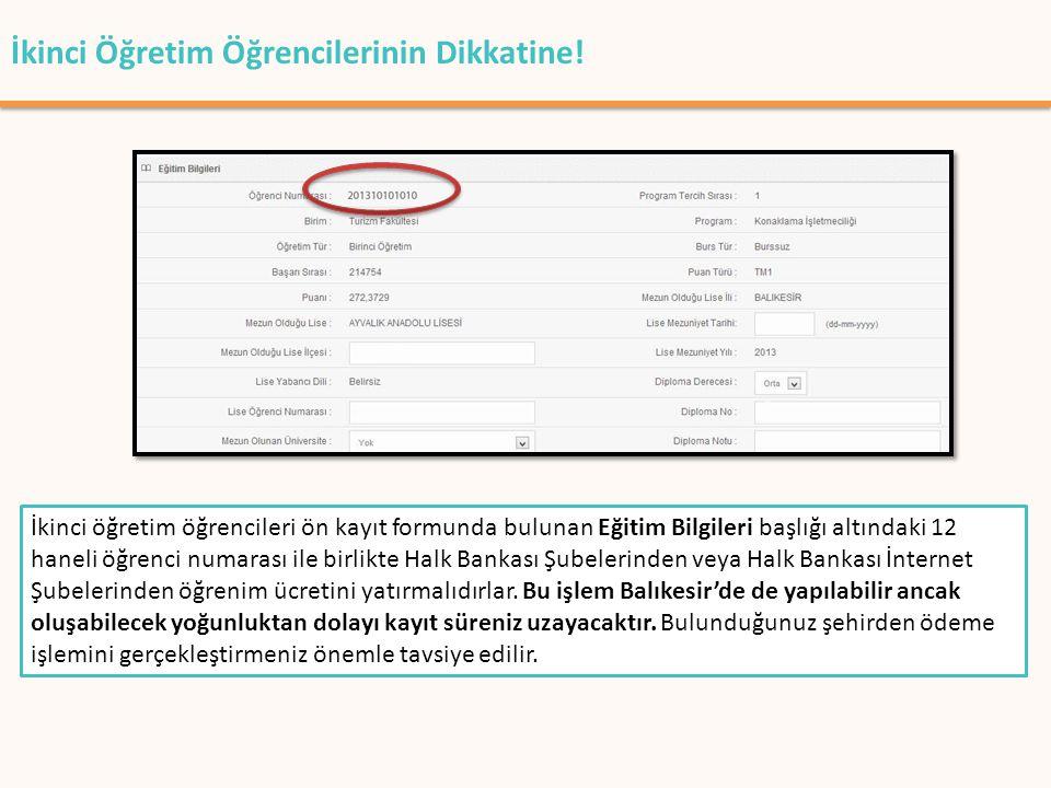 T.C.BALIKESİR ÜNİVERSİTESİ 2012-2013 EĞİTİM-ÖĞRETİM YILI (2.ÖĞRETİM) ÖĞRENİM ÜCRETLERİ FAKÜLTE/Y.