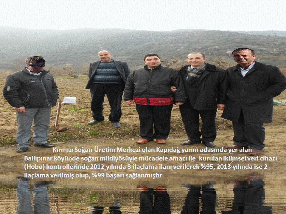 Kırmızı Soğan Üretim Merkezi olan Kapıdağ yarım adasında yer alan Ballıpınar köyünde soğan mildiyösüyle mücadele amacı ile kurulan iklimsel veri cihaz