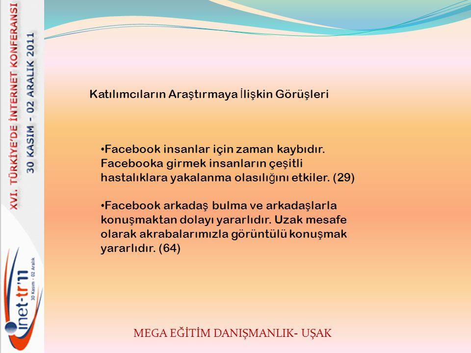 MEGA EĞİTİM DANIŞMANLIK- UŞAK • Facebook insanlar için zaman kaybıdır.