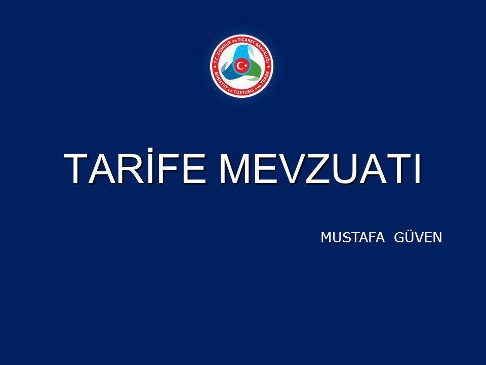 BÖLÜM NOTU: Türk Gümrük tarife cetvelindeki bölümlerle ilgili olarak bölüm başlıklarından sonra yer alan açıklamalardır.