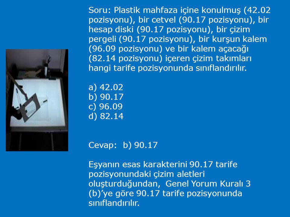 Soru: Birlikte paketlenmiş iki havlu ve bir şemsiyeden oluşan eşya, GYK 3 (b)'ye göre set olarak değerlendirilebilir mi? Evet Hayır Cevap: Hayır GYK 3