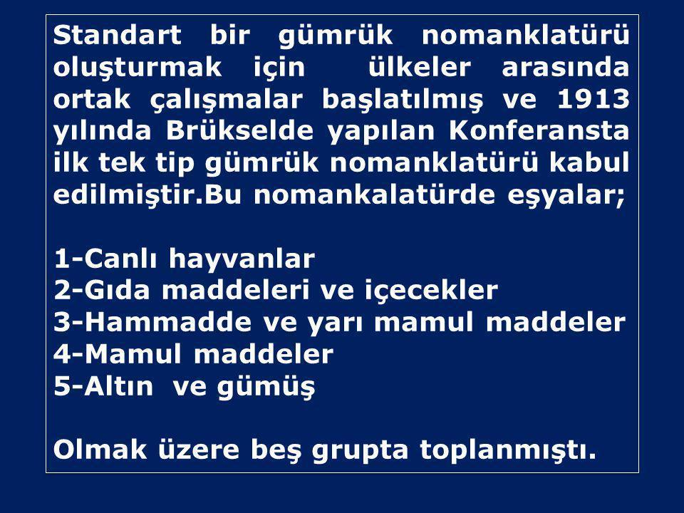 Türk Gümrük Tarife Cetveli •Gümrük ve Ticaret bakanlığınca her yıl BKK olarak yayımlanmakta ve 1 Ocak itibariyle yürürlüğe girmektedir.
