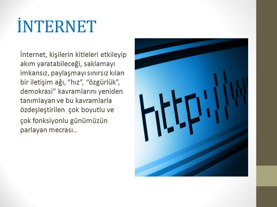 AMACIMIZ • Öğrencilerinin internet kullanım alışkanlıklarının saptanması, • İnternet kullanımındaki aşırılıkların farkına vardırılması • Çözüm önerileri