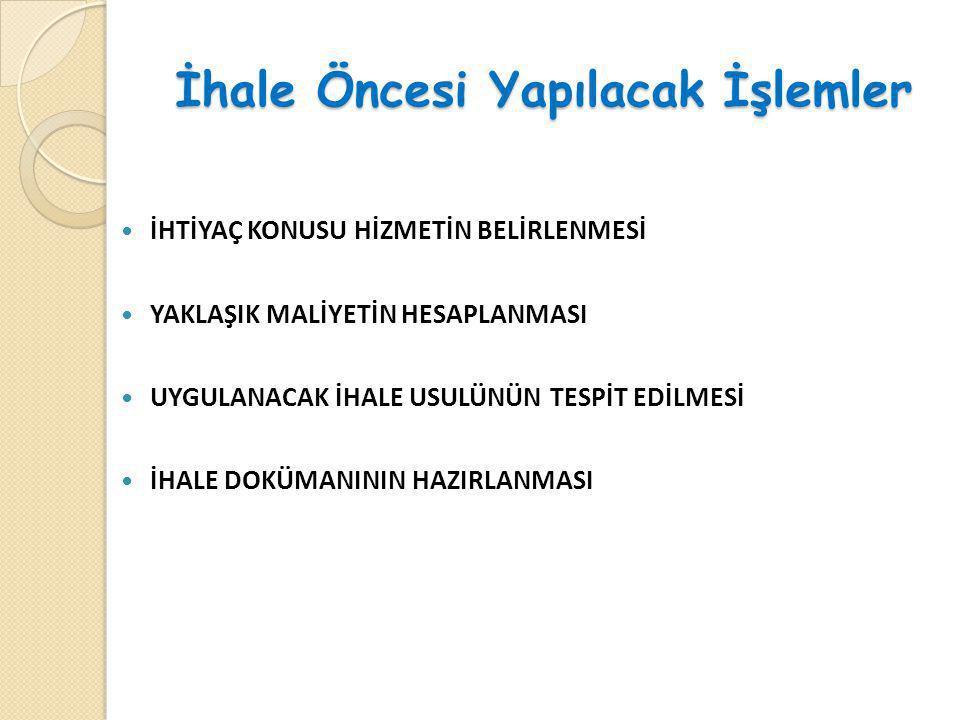 YAKLAŞIK MALİYETİN TESPİTİ-1 ( Yön.m. 7-9) YAKLAŞIK MALİYETİN TESPİTİ-1 ( Yön.
