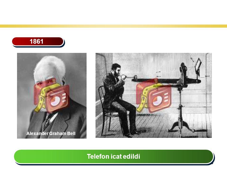 30 Teknoloji Gelişiminin Tarihsel Seyri 1861 Telefon icat edildi Alexander Graham Bell