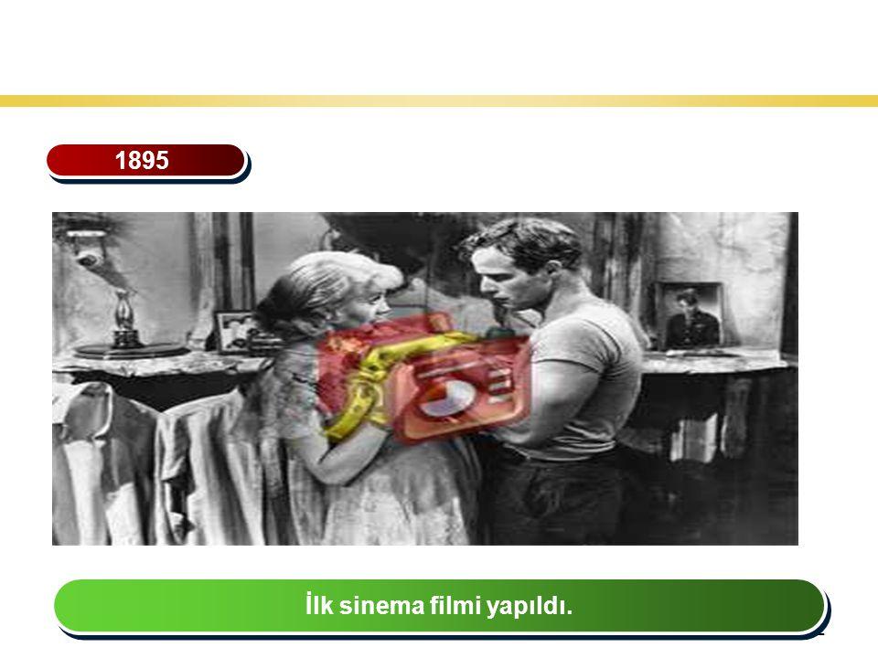 32 Teknoloji Gelişiminin Tarihsel Seyri 1895 İlk sinema filmi yapıldı.