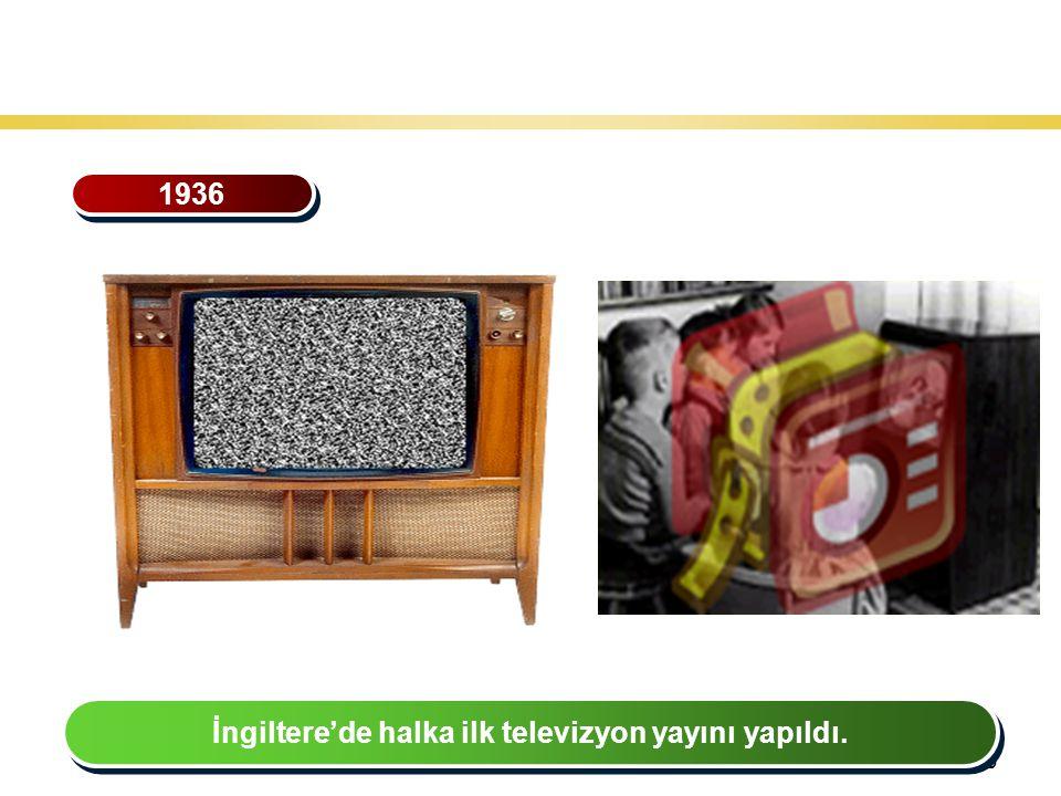 39 Teknoloji Gelişiminin Tarihsel Seyri 1936 İngiltere'de halka ilk televizyon yayını yapıldı.