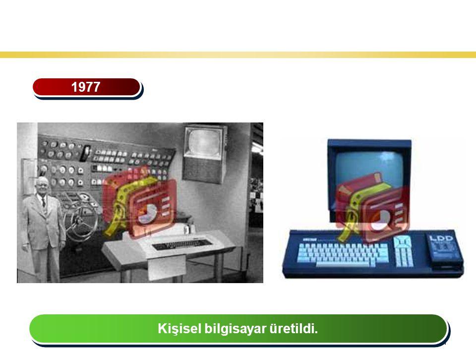 41 Teknoloji Gelişiminin Tarihsel Seyri 1977 Kişisel bilgisayar üretildi.