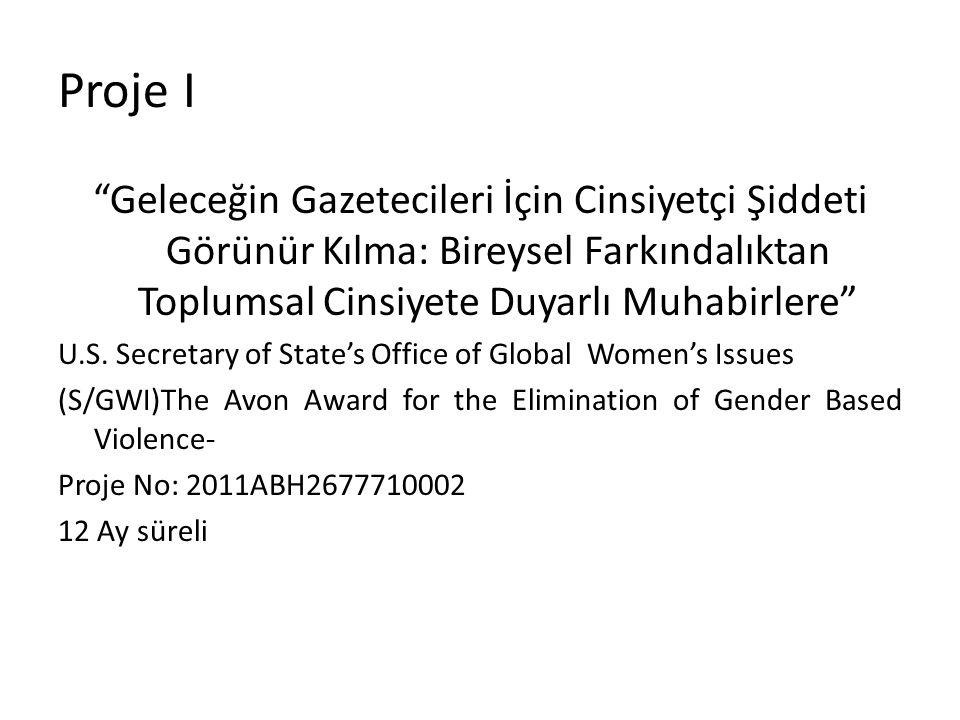 """Proje I """"Geleceğin Gazetecileri İçin Cinsiyetçi Şiddeti Görünür Kılma: Bireysel Farkındalıktan Toplumsal Cinsiyete Duyarlı Muhabirlere"""" U.S. Secretary"""