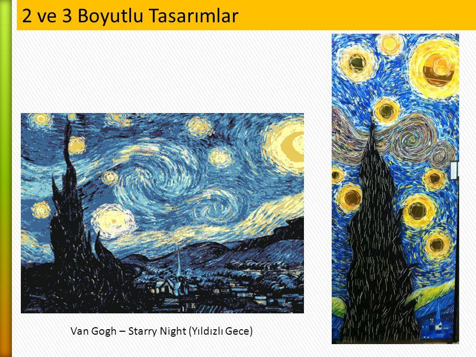 Van Gogh – Starry Night (Yıldızlı Gece) 2 ve 3 Boyutlu Tasarımlar