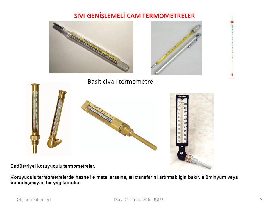 SIVI GENİŞLEMELİ CAM TERMOMETRELER Endüstriyel koruyuculu termometreler. Koruyuculu termometrelerde hazne ile metal arasına, ısı transferini artırmak