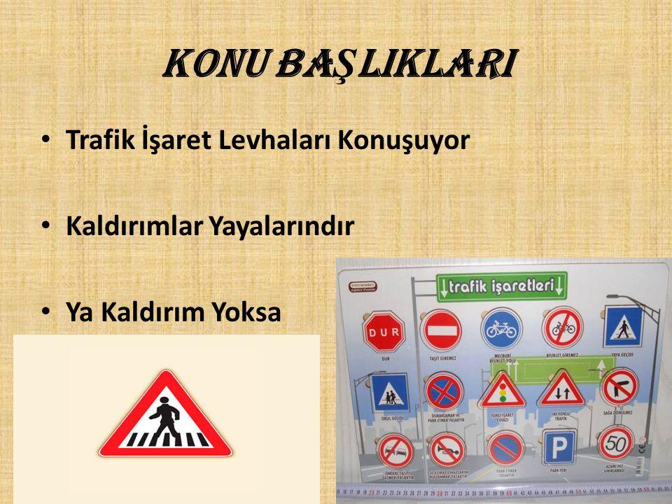 ÜNİTE KAZANIMLARI • 1.Yaya iken karşılaşabileceği trafik işaret ve levhalarını tanır ve korur.