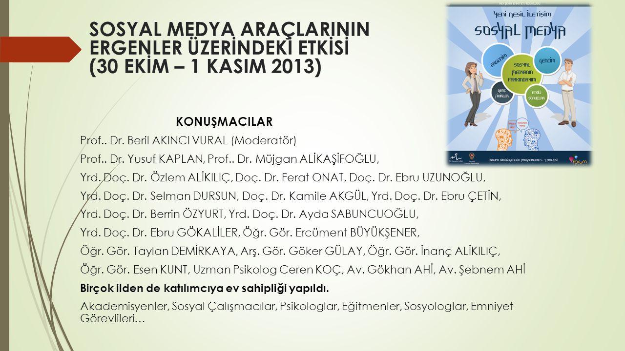 KONUŞMACILAR Prof..Dr. Beril AKINCI VURAL (Moderatör) Prof..