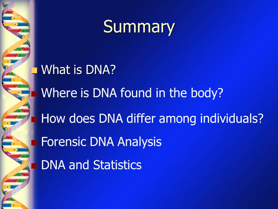 What is DNA.What does DNA stand for. What does DNA do.