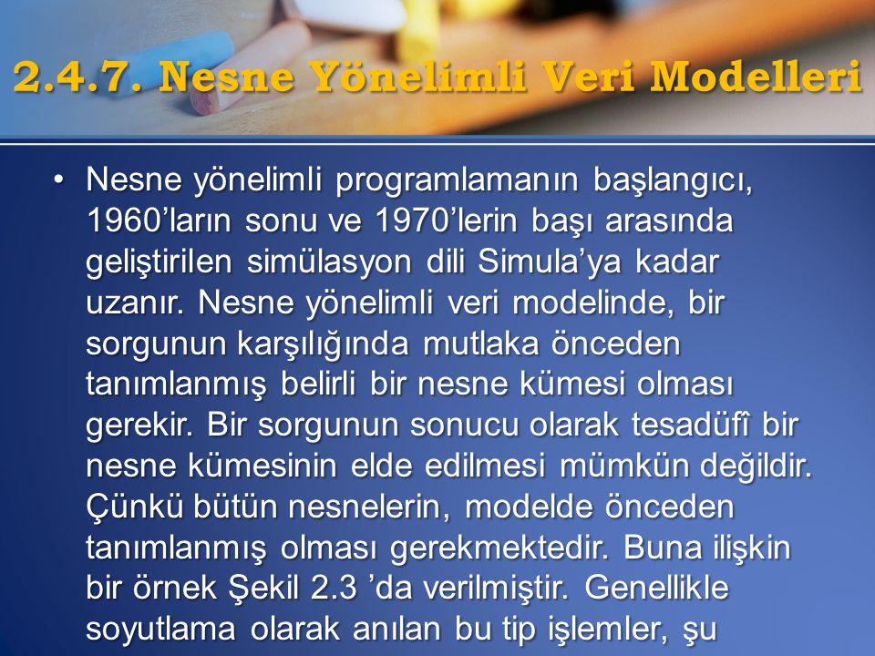 •Nesne yönelimli programlamanın başlangıcı, 1960'ların sonu ve 1970'lerin başı arasında geliştirilen simülasyon dili Simula'ya kadar uzanır. Nesne yön