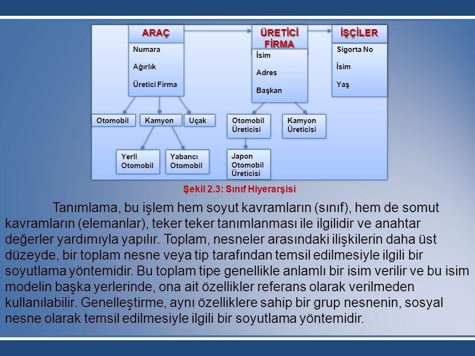 Tanımlama, bu işlem hem soyut kavramların (sınıf), hem de somut kavramların (elemanlar), teker teker tanımlanması ile ilgilidir ve anahtar değerler ya