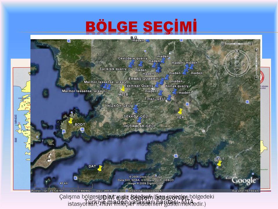 Çalışma alanının (Muğla-Aydın) jeolojik haritası
