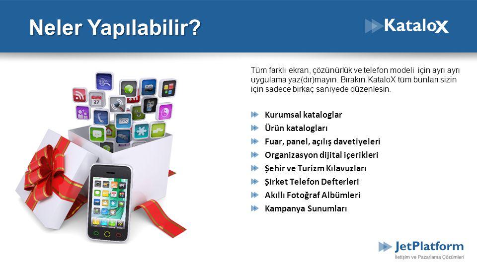 Tüm farklı ekran, çözünürlük ve telefon modeli için ayrı ayrı uygulama yaz(dır)mayın. Bırakın KataloX tüm bunları sizin için sadece birkaç saniyede dü