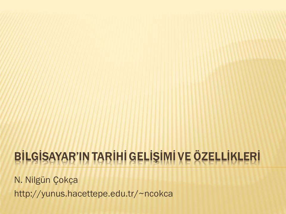 N. Nilgün Çokça http://yunus.hacettepe.edu.tr/~ncokca