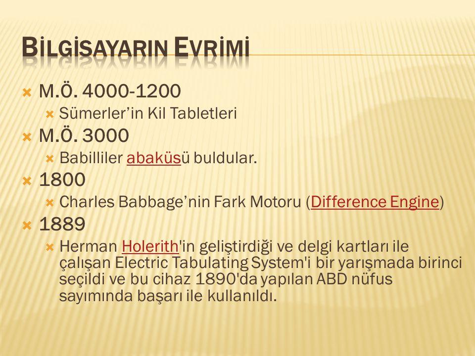  M.Ö.4000-1200  Sümerler'in Kil Tabletleri  M.Ö.
