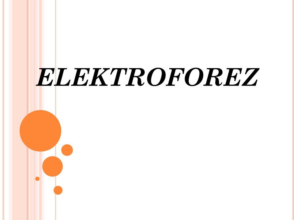 Elektroforez, yüklü moleküllerin bir elektriksel alan uygulandığında, sıvı içeren bir ortamda hareket hızlarının ölçüldüğü bir yöntemdir.