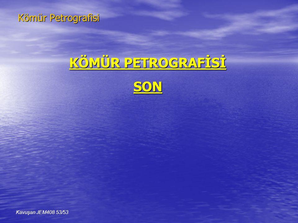 Kömür Petrografisi Kavuşan JEM408 53/53 KÖMÜR PETROGRAFİSİ SON