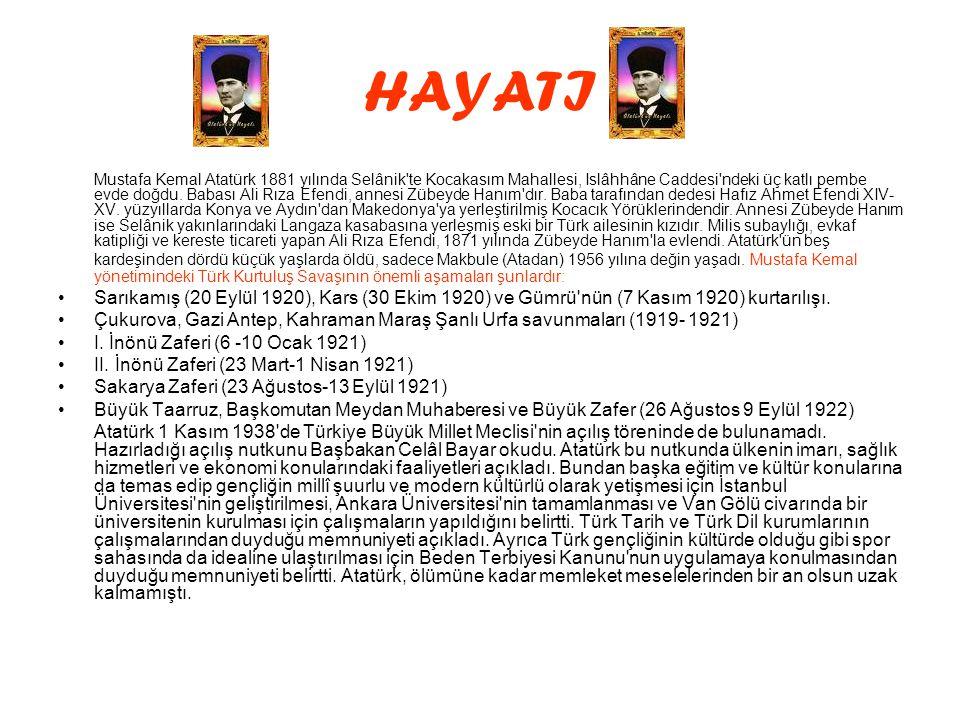 DEVAMI •Atatürk 1 Kasım 1938 de Türkiye Büyük Millet Meclisi nin açılış töreninde de bulunamadı.