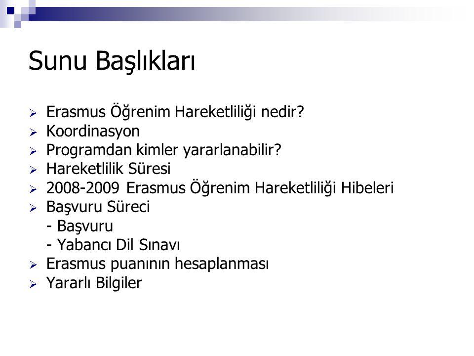 Sunu Başlıkları  Erasmus Öğrenim Hareketliliği nedir.