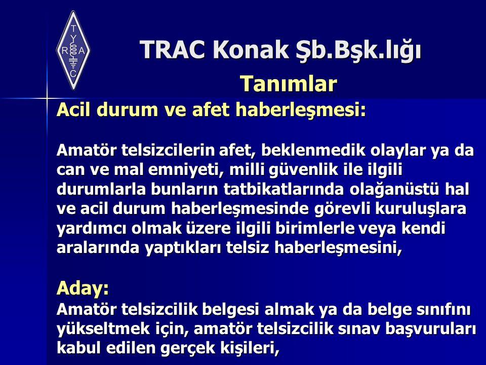 TRAC Konak Şb.Bşk.lığı Belge İptali Organizasyonların feshi veya tasfiyesi halinde belgeleri ve çağrı işaretleri iptal edilir.
