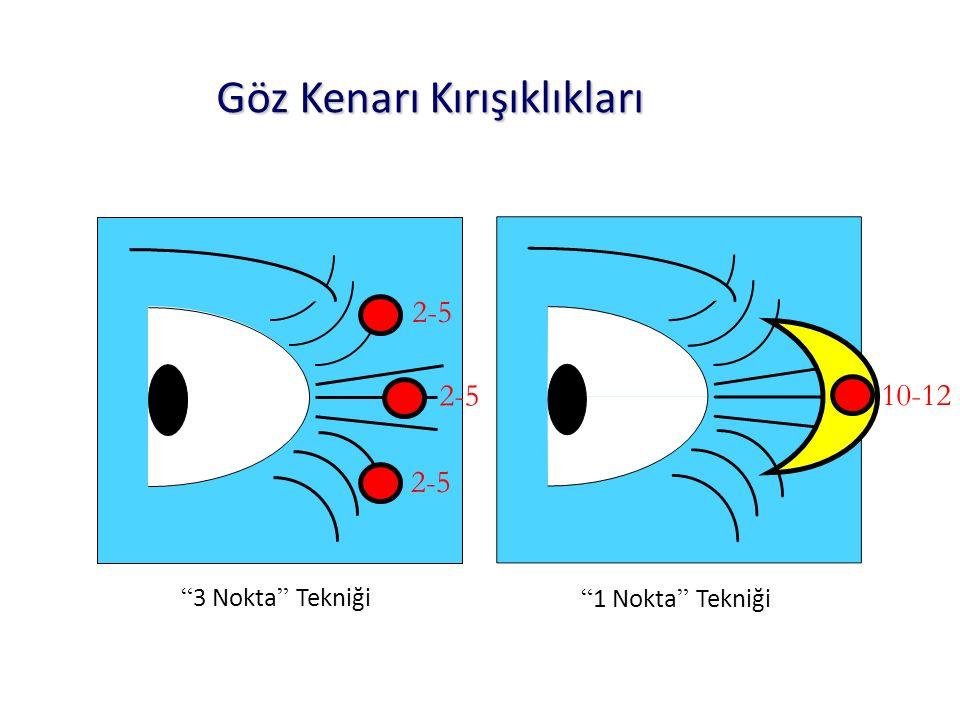 3 Nokta Tekniği 1 Nokta Tekniği 2-5 10-12 Göz Kenarı Kırışıklıkları