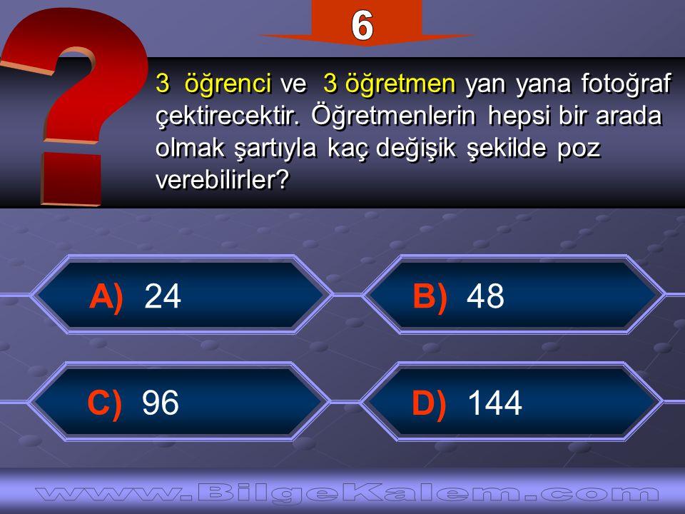 ise x kaçtır? ise x kaçtır? B) 2 A) 1 C) 1 2 D) 1 2